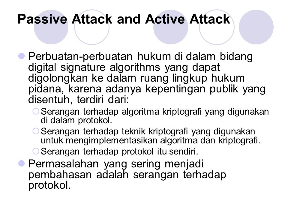 Passive Attack and Active Attack