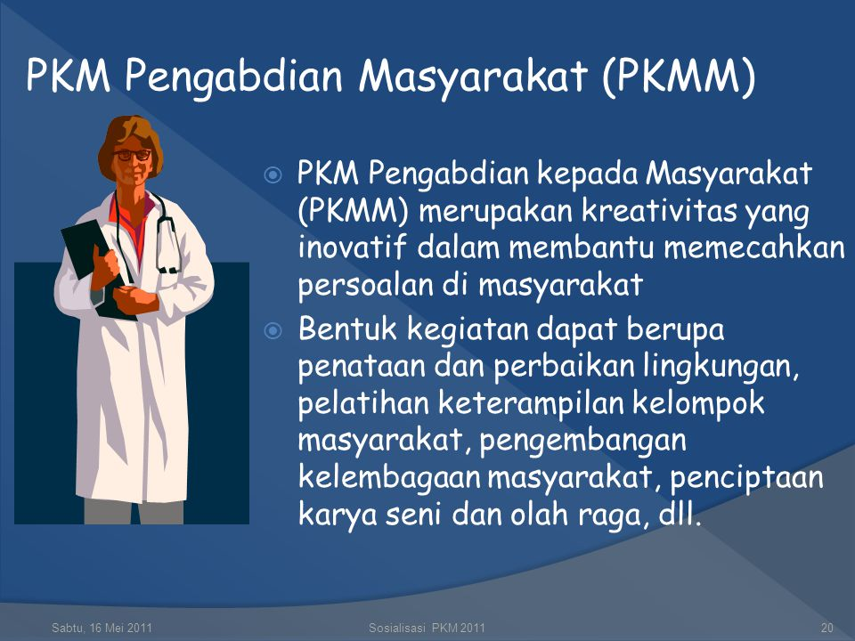 PKM Pengabdian Masyarakat (PKMM)