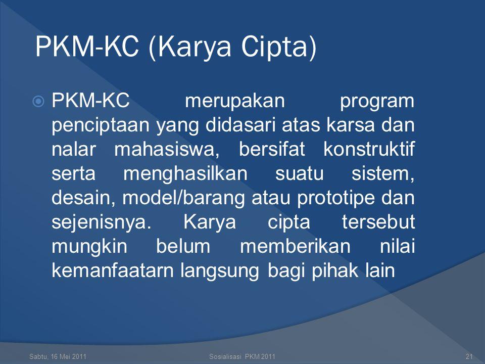 PKM-KC (Karya Cipta)