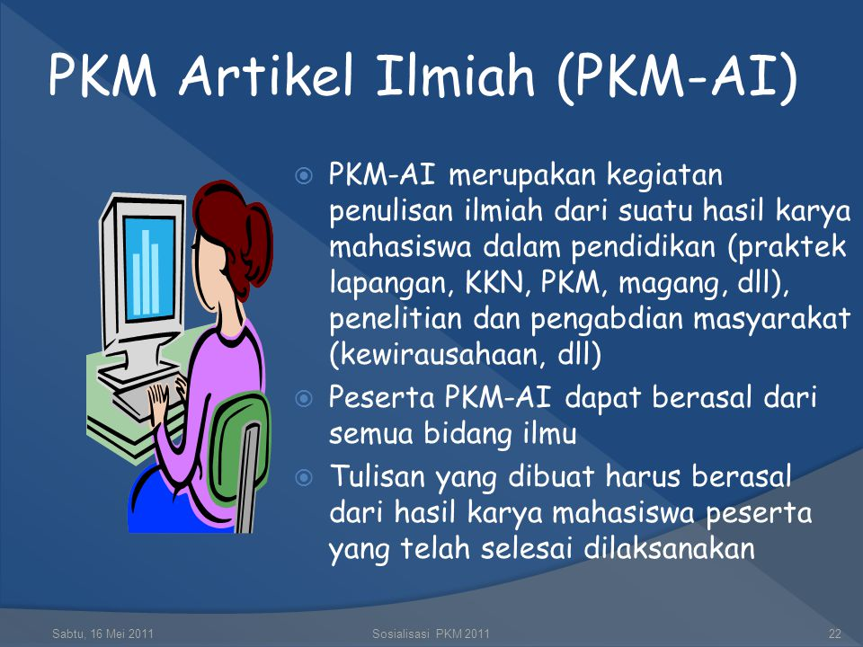 PKM Artikel Ilmiah (PKM-AI)