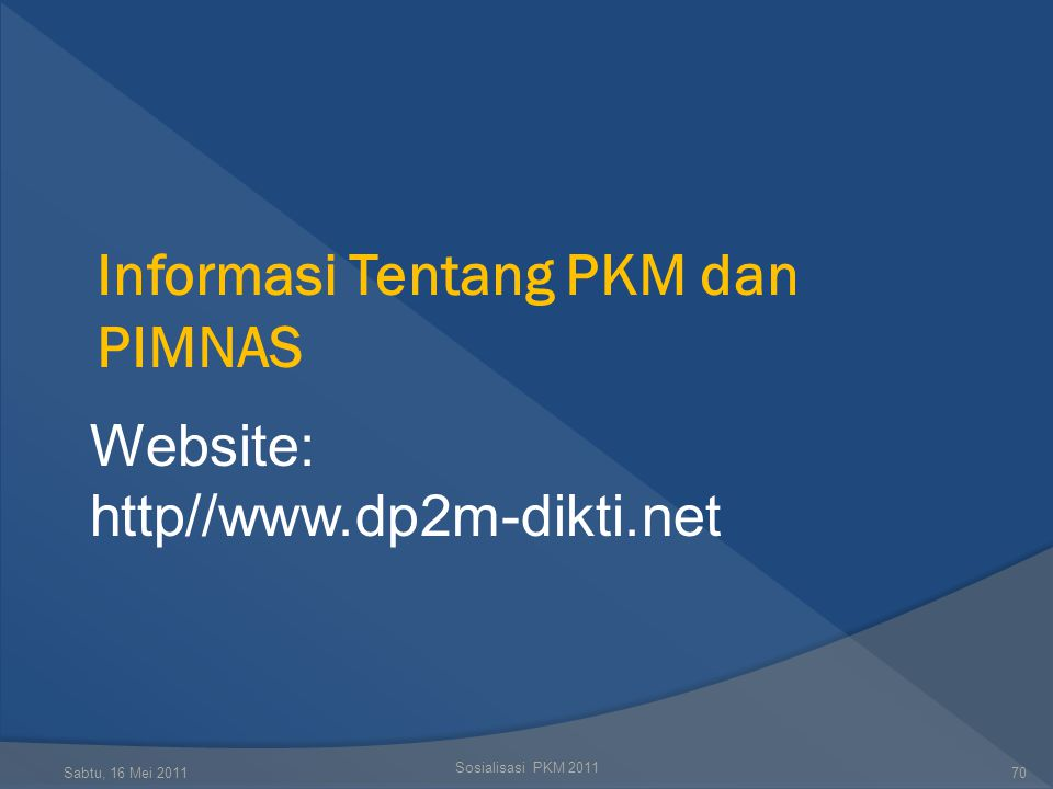 Informasi Tentang PKM dan PIMNAS