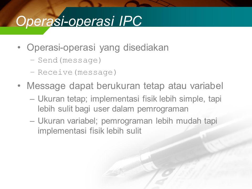 Operasi-operasi IPC Operasi-operasi yang disediakan
