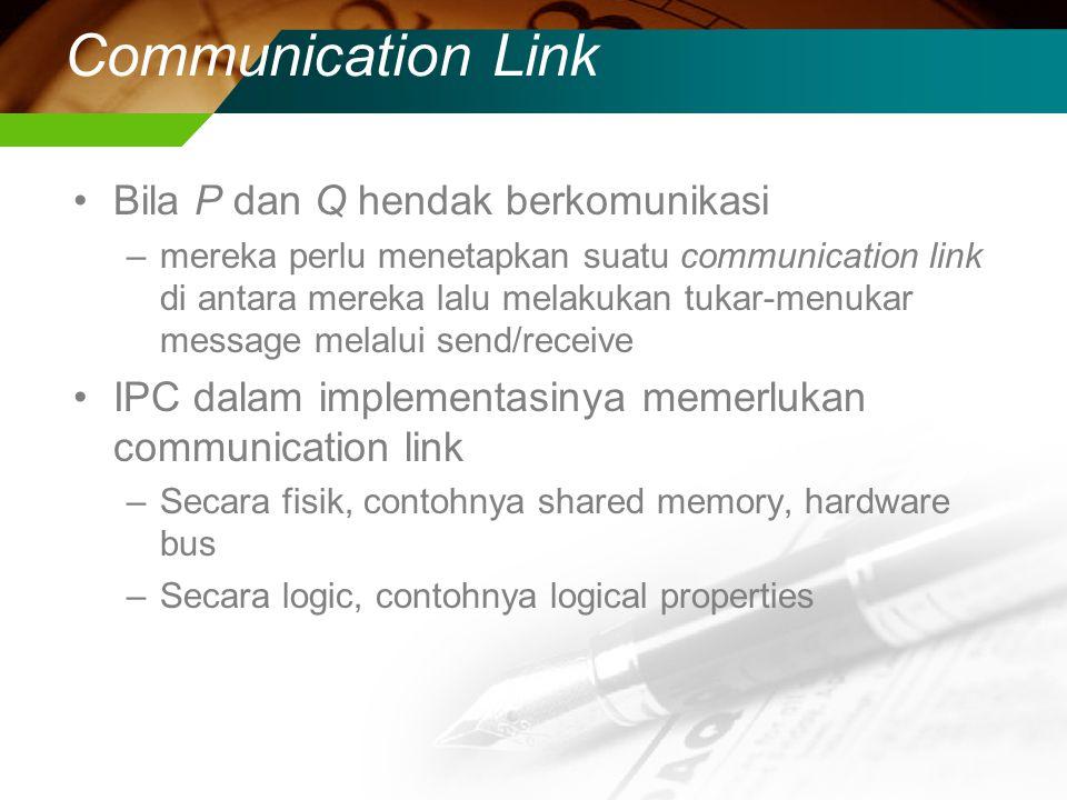 Communication Link Bila P dan Q hendak berkomunikasi