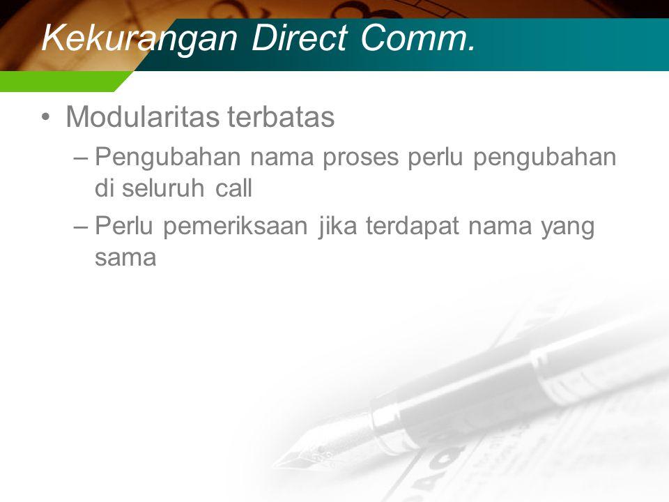Kekurangan Direct Comm.