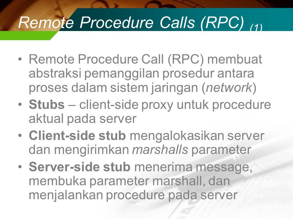 Remote Procedure Calls (RPC) (1)