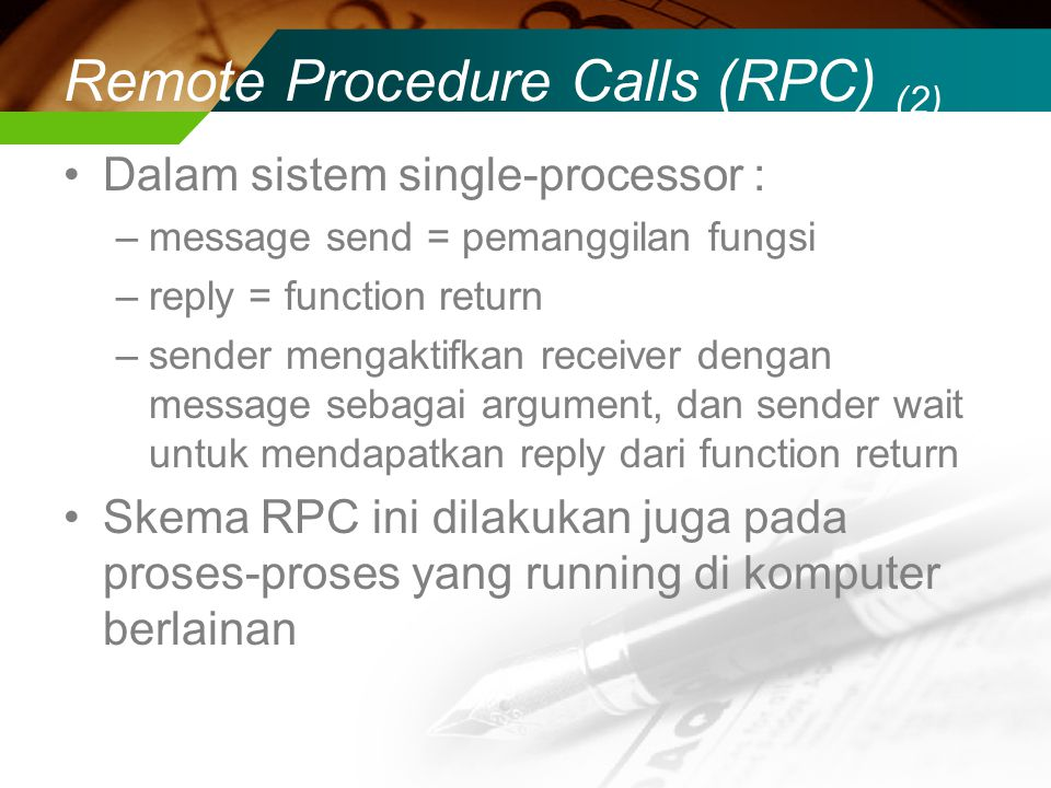 Remote Procedure Calls (RPC) (2)