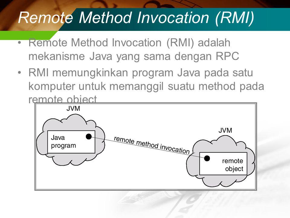 Remote Method Invocation (RMI)