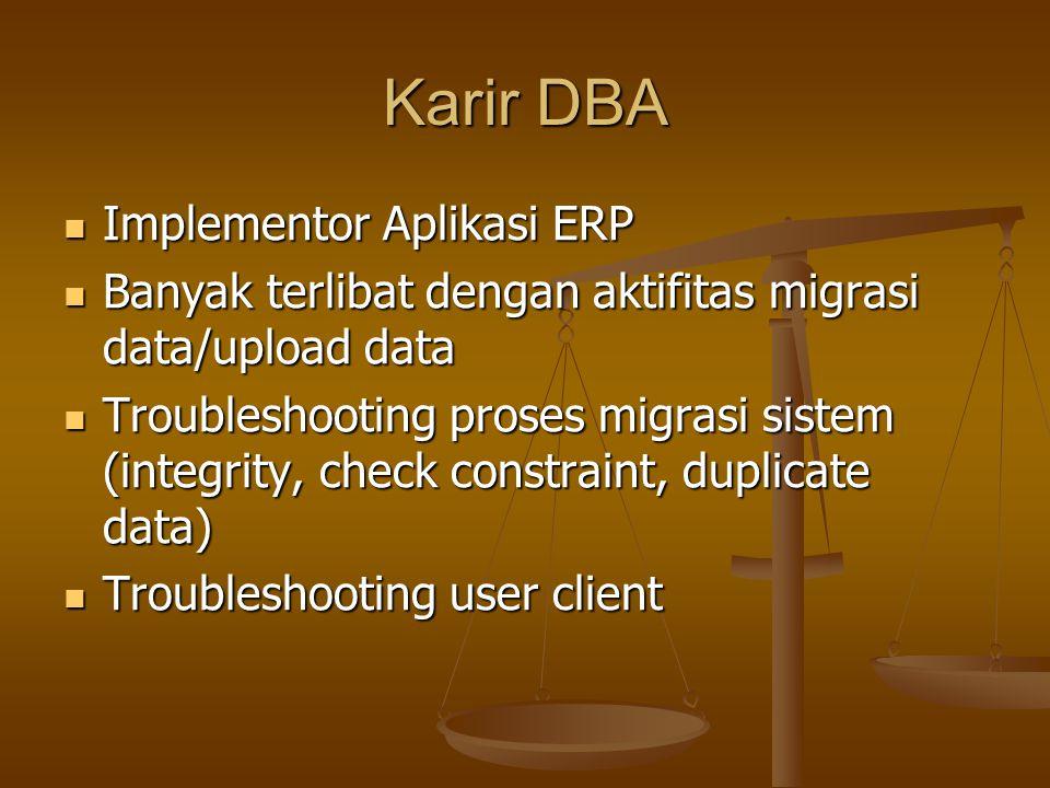 Karir DBA Implementor Aplikasi ERP