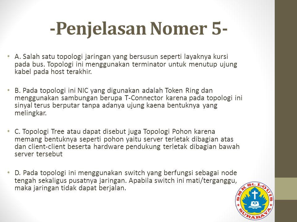 -Penjelasan Nomer 5-