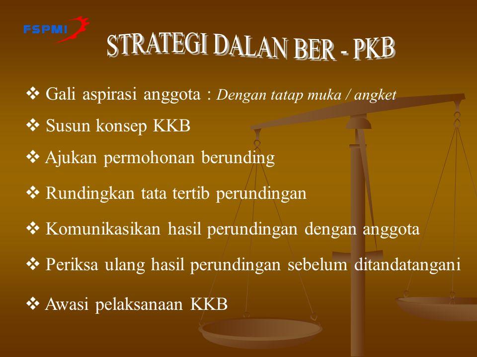 STRATEGI DALAN BER - PKB