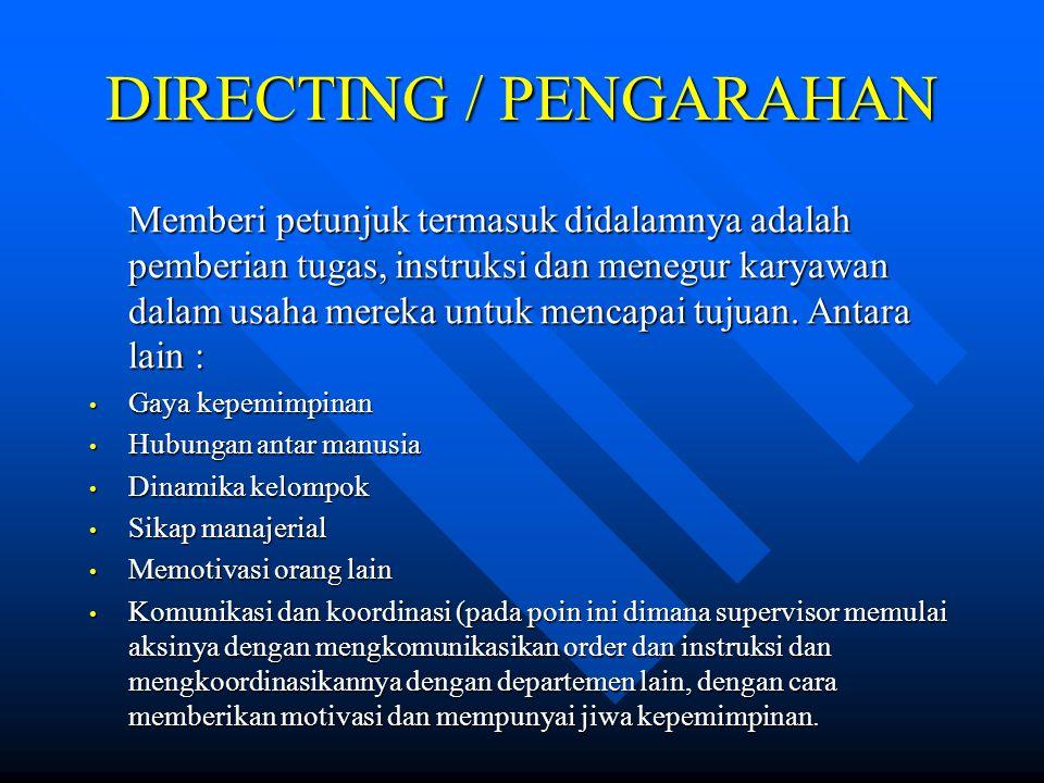DIRECTING / PENGARAHAN