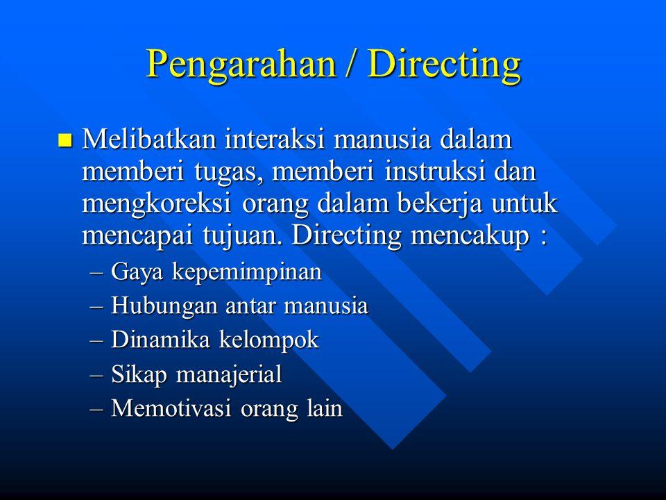 Pengarahan / Directing
