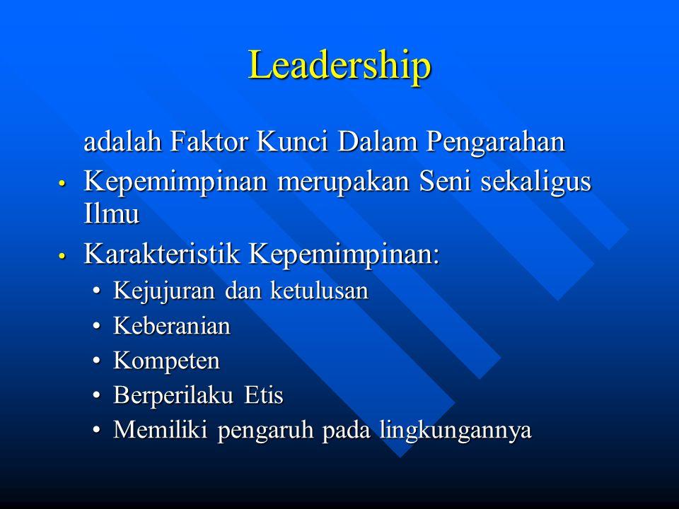 Leadership adalah Faktor Kunci Dalam Pengarahan