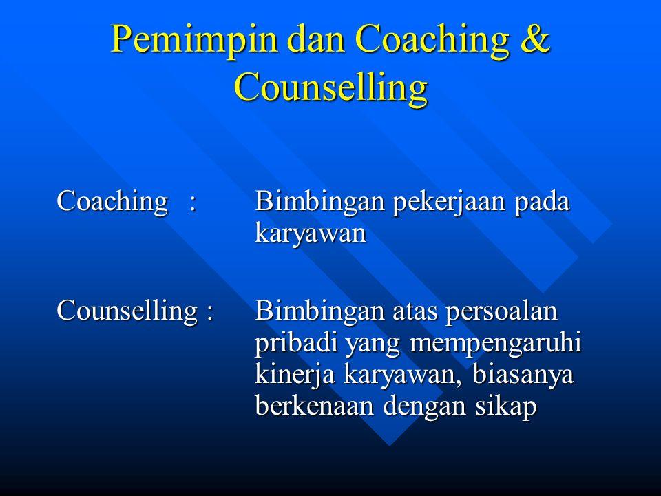 Pemimpin dan Coaching & Counselling