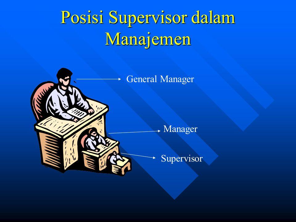 Posisi Supervisor dalam Manajemen