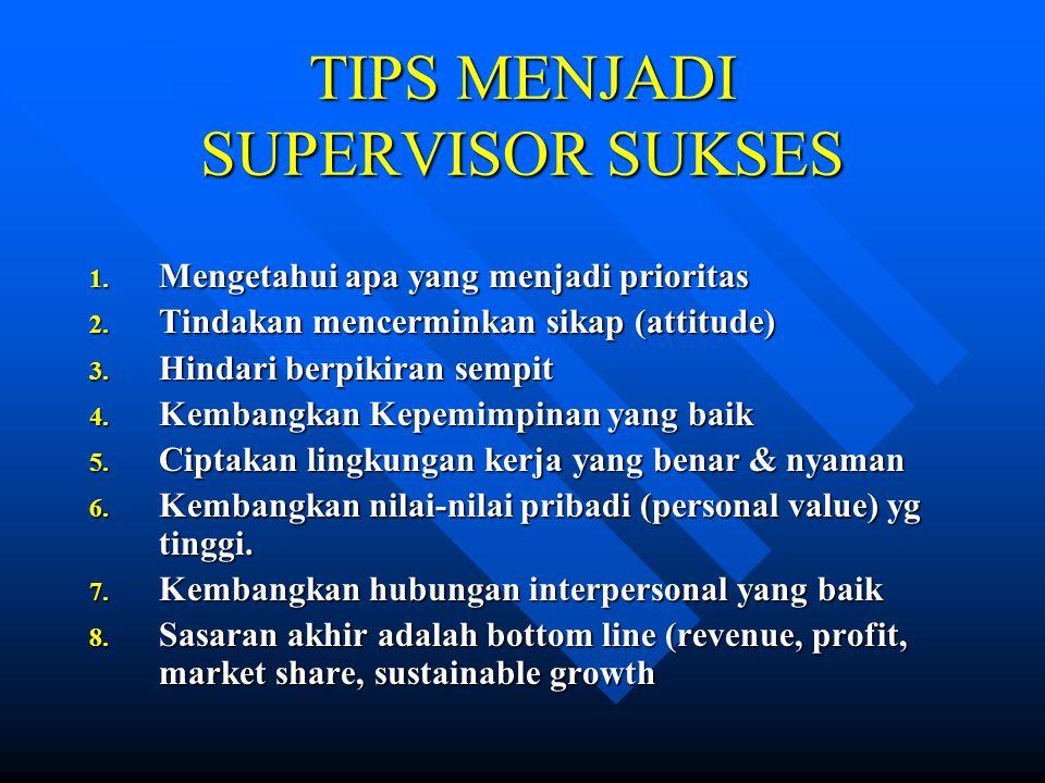 TIPS MENJADI SUPERVISOR SUKSES