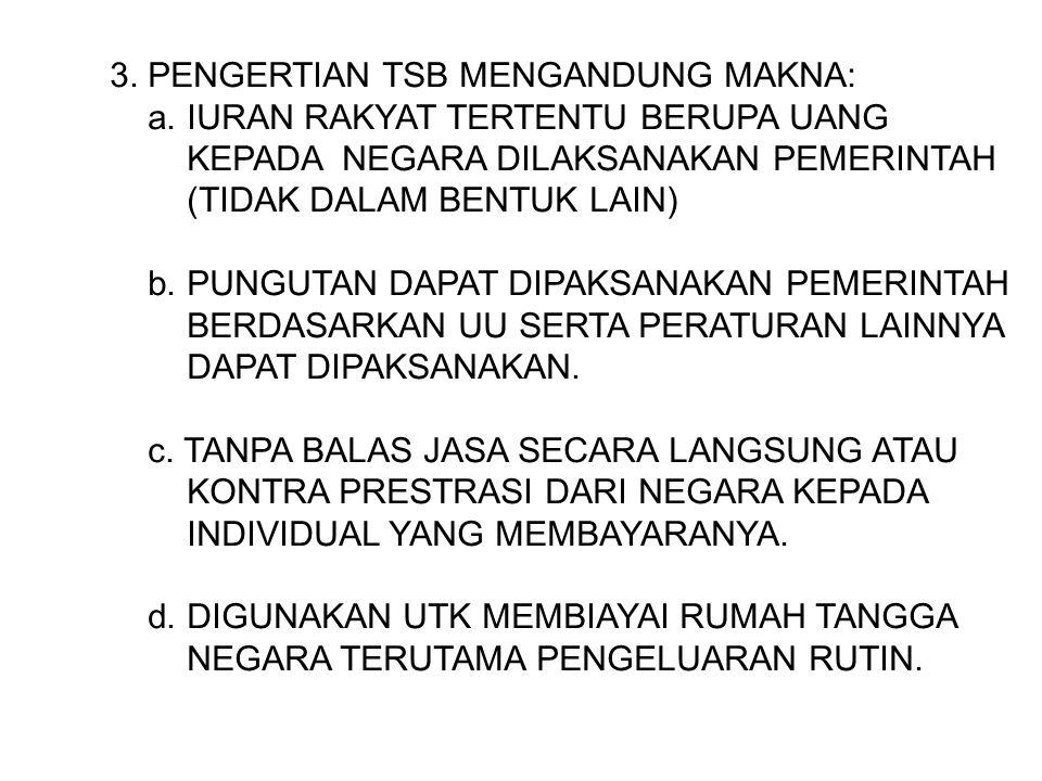 3. PENGERTIAN TSB MENGANDUNG MAKNA: