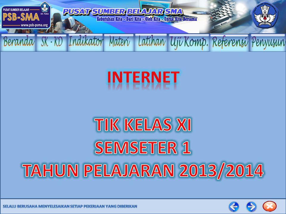 TIK KELAS XI SEMSETER 1 TAHUN PELAJARAN 2013/2014
