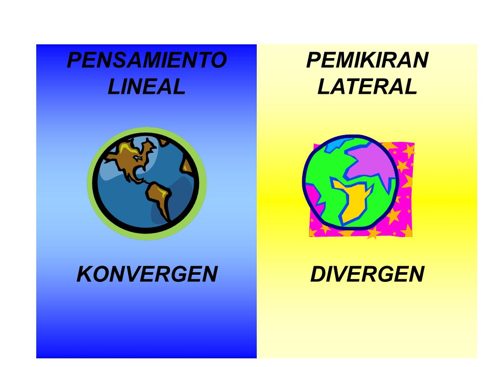PENSAMIENTO LINEAL KONVERGEN PEMIKIRAN LATERAL DIVERGEN