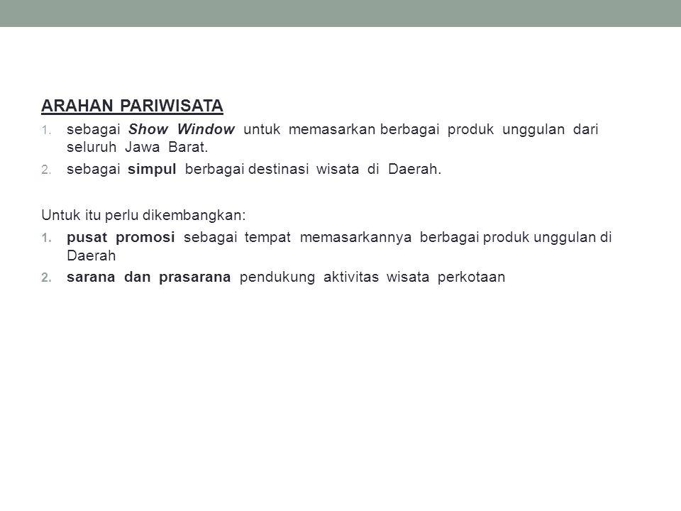 ARAHAN PARIWISATA sebagai Show Window untuk memasarkan berbagai produk unggulan dari seluruh Jawa Barat.