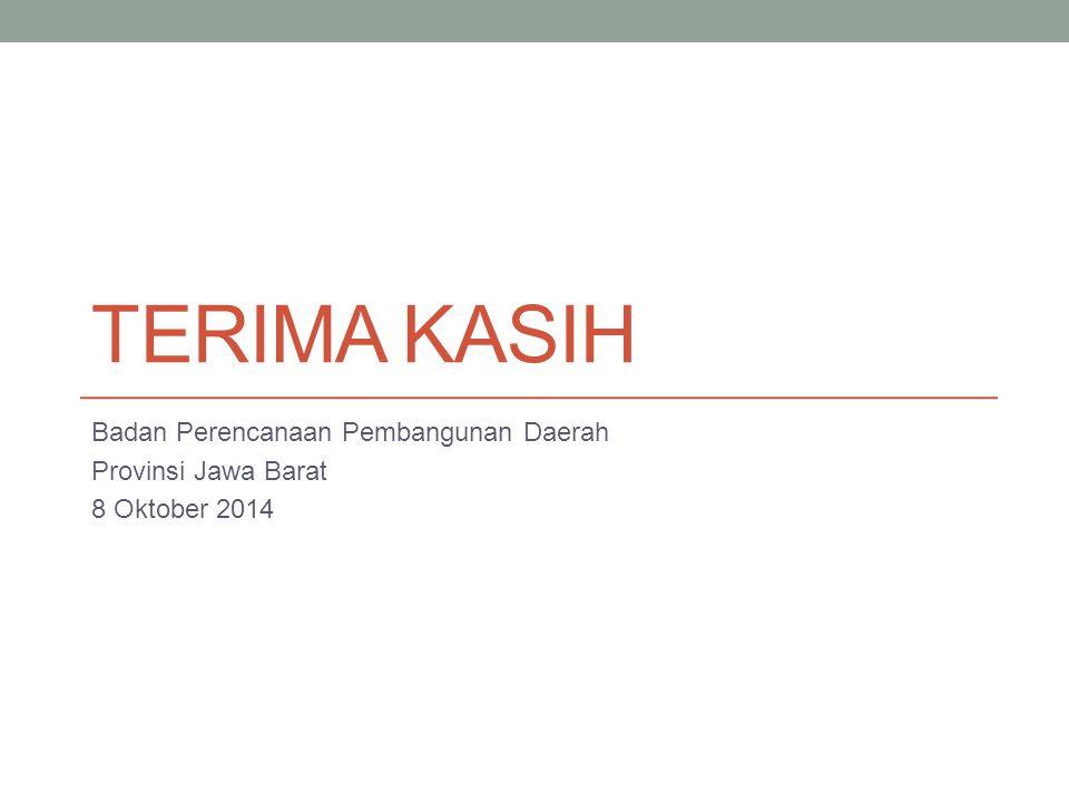 Terima kasih Badan Perencanaan Pembangunan Daerah Provinsi Jawa Barat