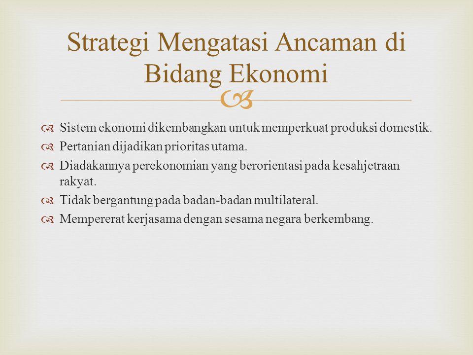 Strategi Mengatasi Ancaman di Bidang Ekonomi