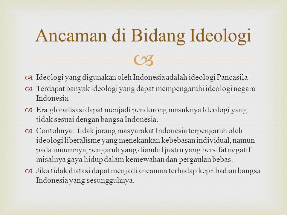 Ancaman di Bidang Ideologi