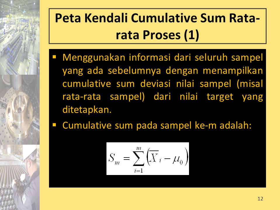 Peta Kendali Cumulative Sum Rata-rata Proses (1)