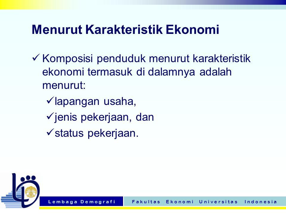 Menurut Karakteristik Ekonomi