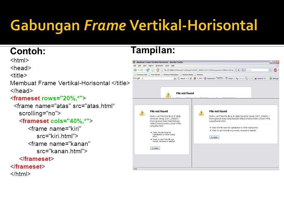 Gabungan Frame Vertikal-Horisontal