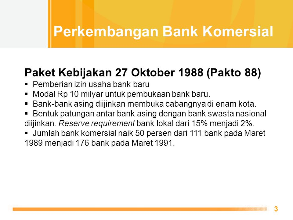 Perkembangan Bank Komersial