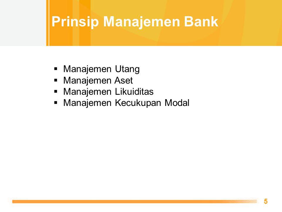 Prinsip Manajemen Bank