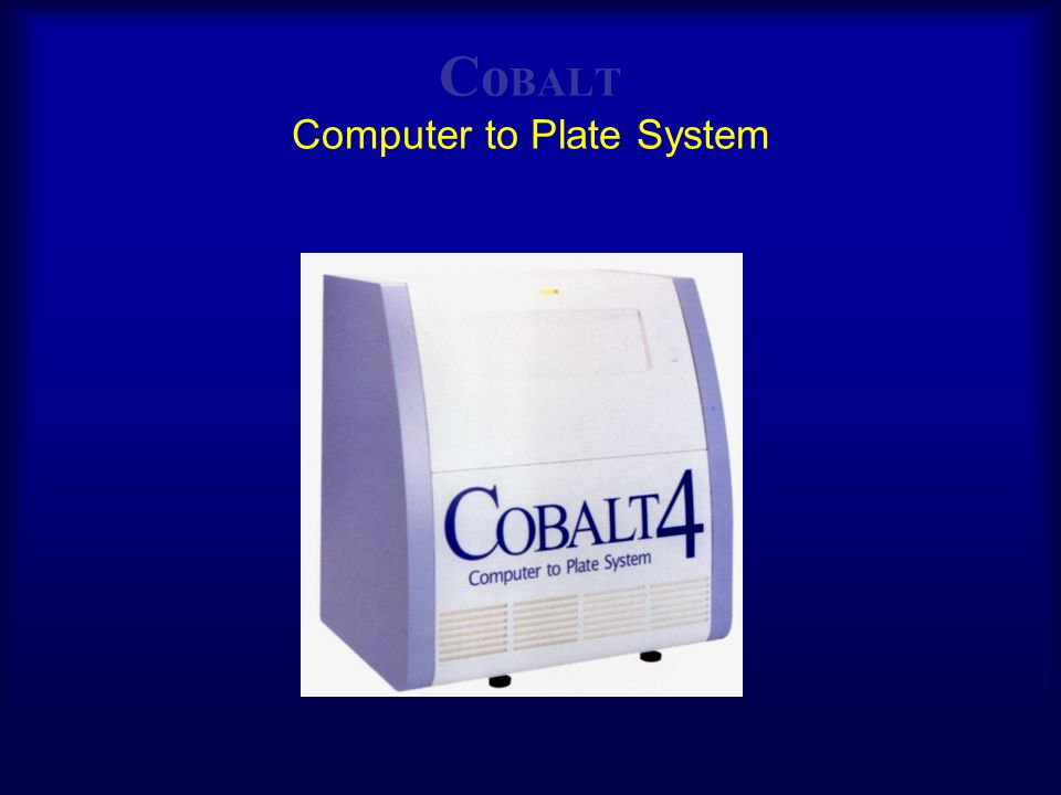 CoBALT Computer to Plate System
