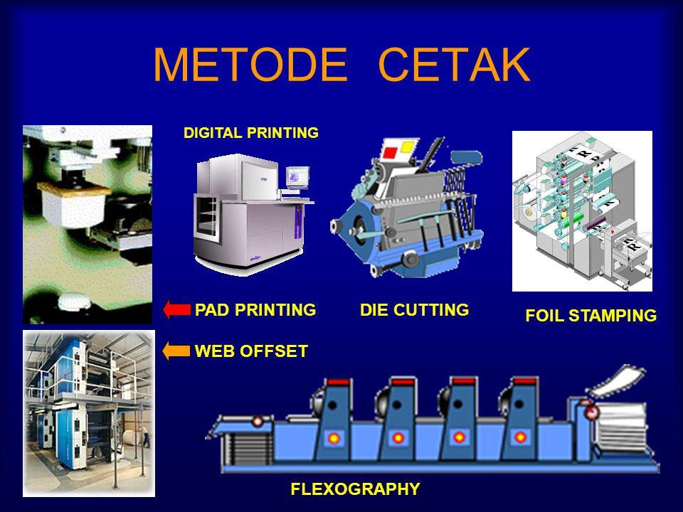 METODE CETAK PAD PRINTING WEB OFFSET DIE CUTTING FOIL STAMPING