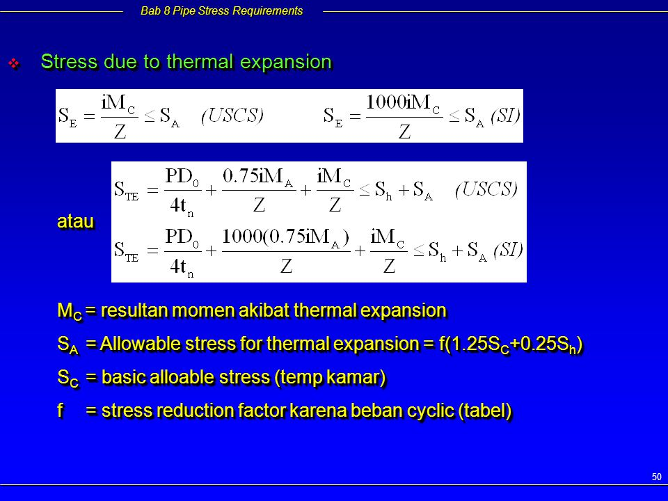 Stress due to thermal expansion