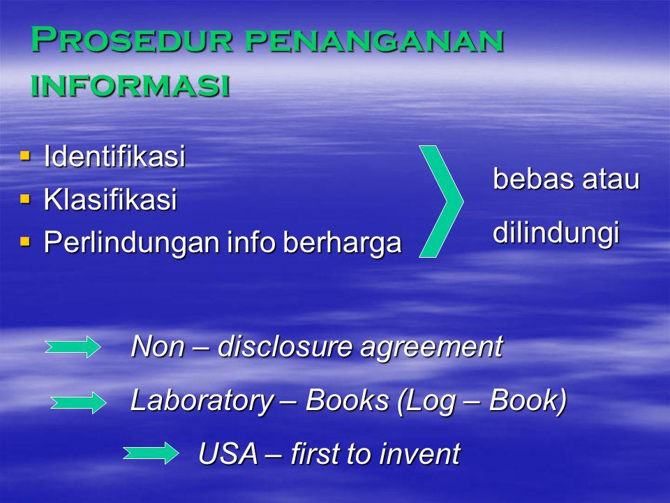 Prosedur penanganan informasi