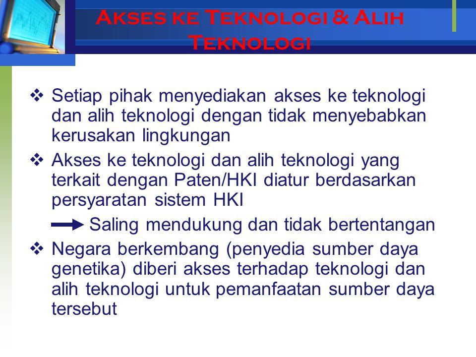Akses ke Teknologi & Alih Teknologi