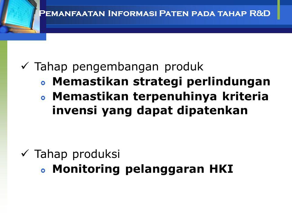 Tahap pengembangan produk Memastikan strategi perlindungan