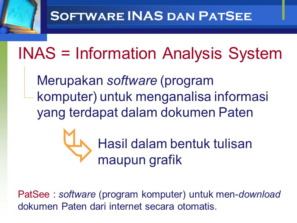 Software INAS dan PatSee