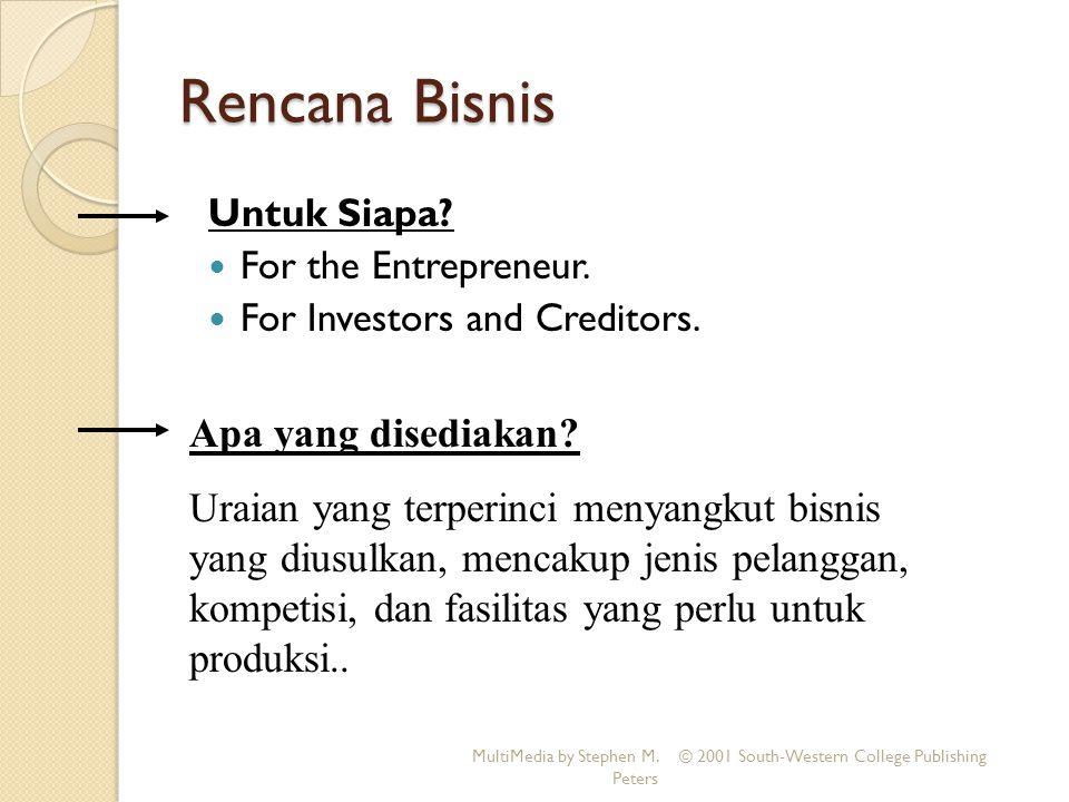 Rencana Bisnis Apa yang disediakan