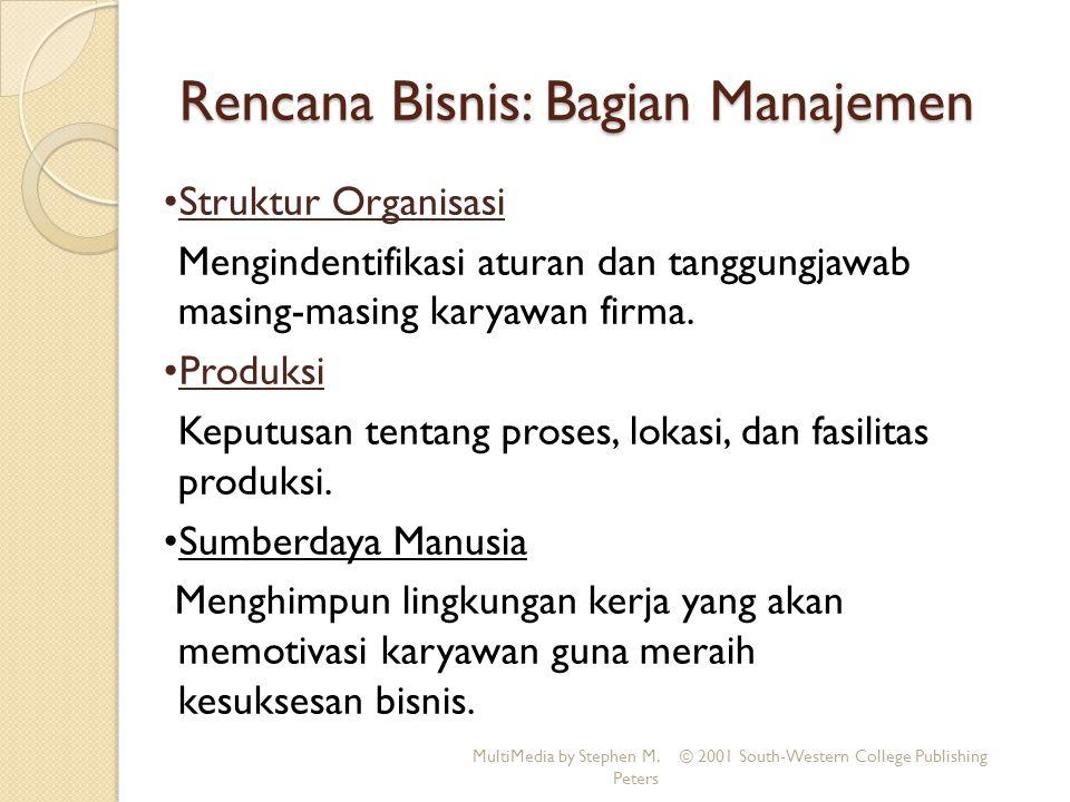 Rencana Bisnis: Bagian Manajemen