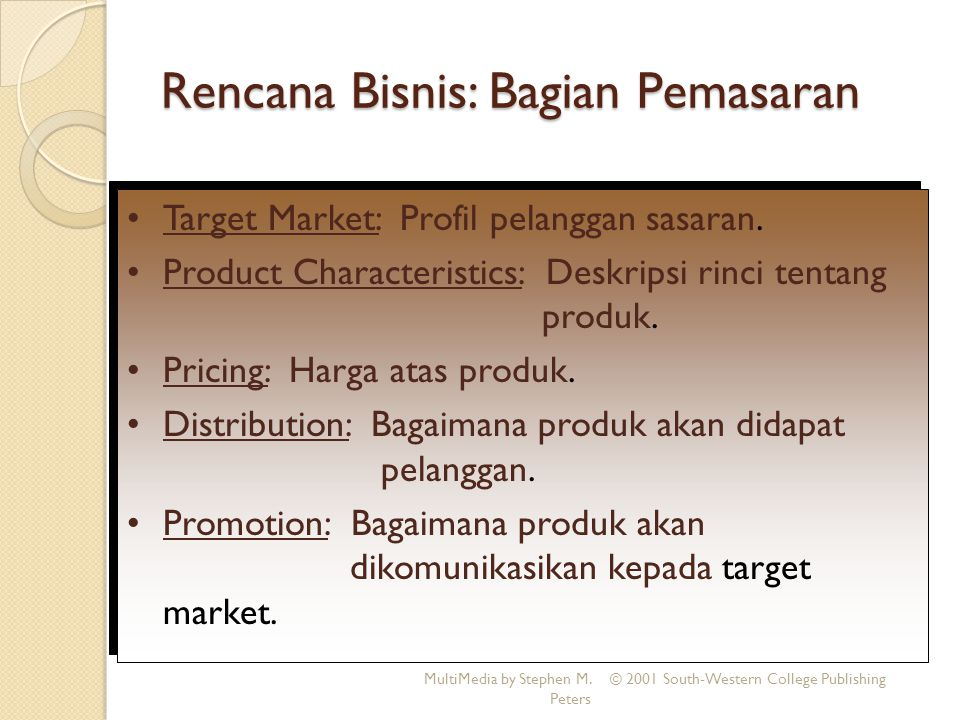 Rencana Bisnis: Bagian Pemasaran