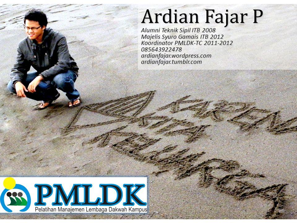 Ardian Fajar P Alumni Teknik Sipil ITB 2008