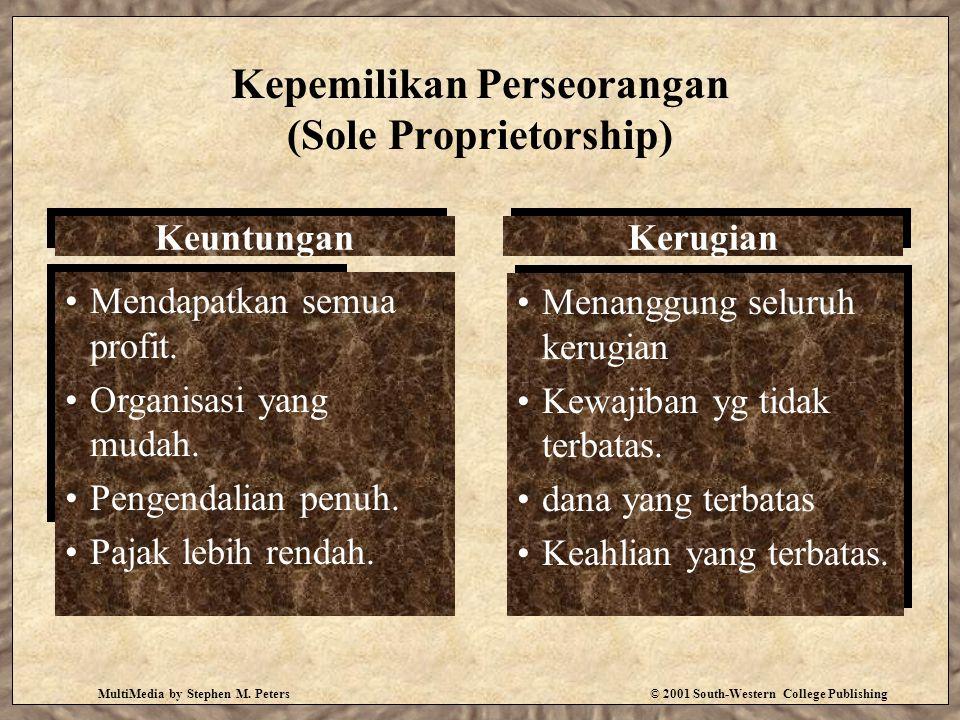 Kepemilikan Perseorangan (Sole Proprietorship)