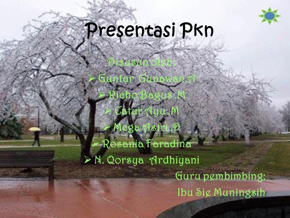 Presentasi Pkn Disusun oleh: Guntur Gunawan.A Richo Bagus .M