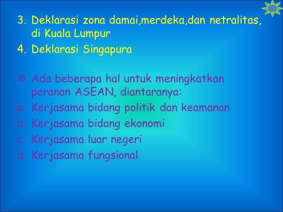 Deklarasi zona damai,merdeka,dan netralitas, di Kuala Lumpur