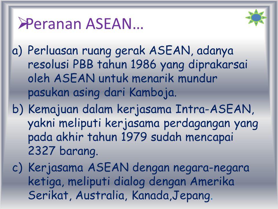 Peranan ASEAN…