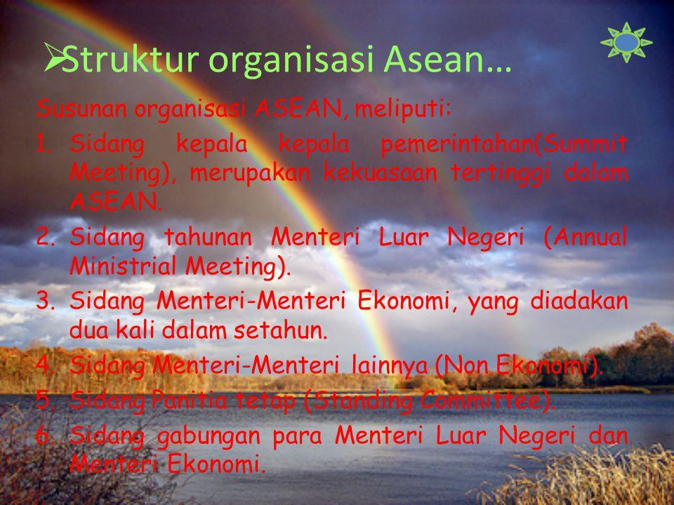 Struktur organisasi Asean…
