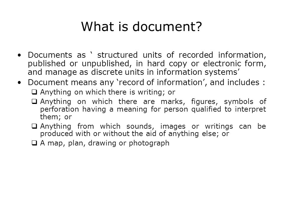 What is document