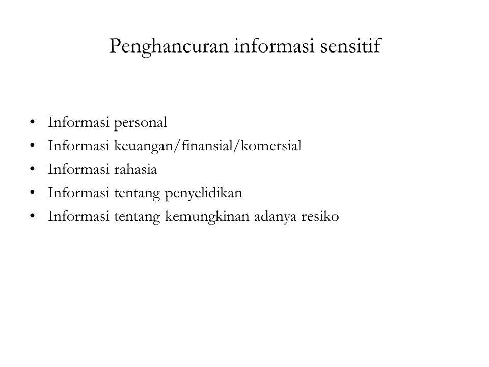 Penghancuran informasi sensitif